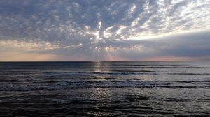Solnedgang ved Høve Strand