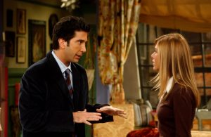 David Schwimmer som Ross & Jennifer Aniston som Rachel. BildkŠlla: Warner Bros Org. titel: Friends Prod.Œr: 2003-04